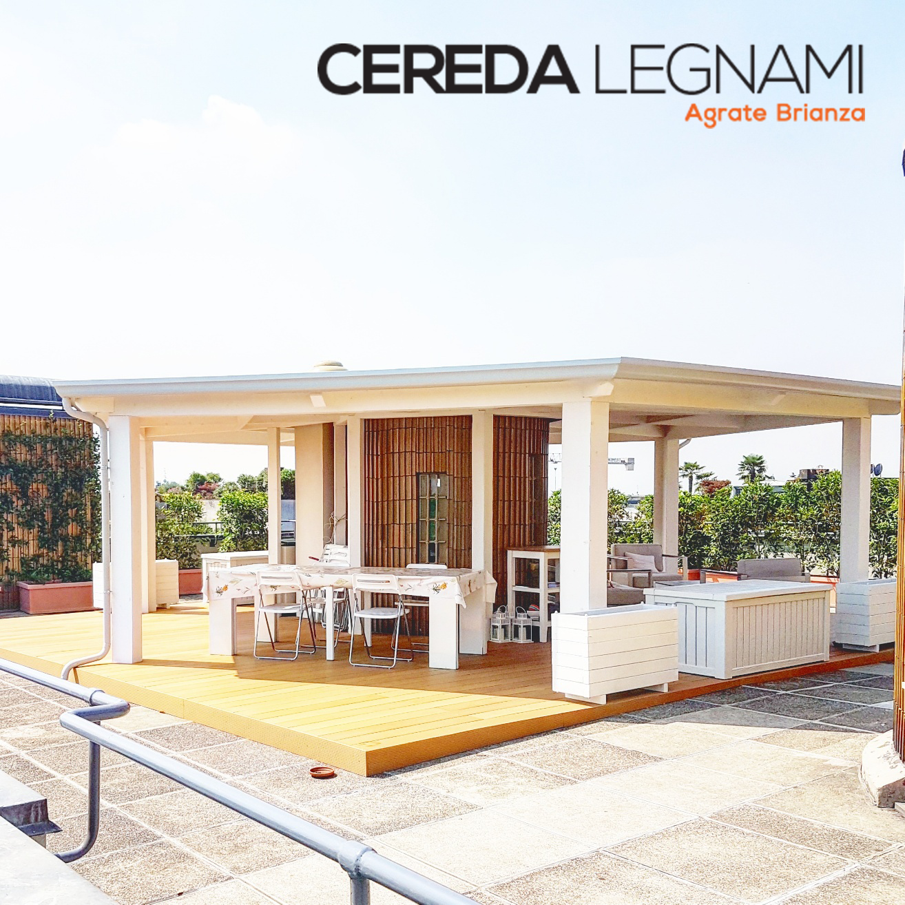 veranda di design realizzata in legno