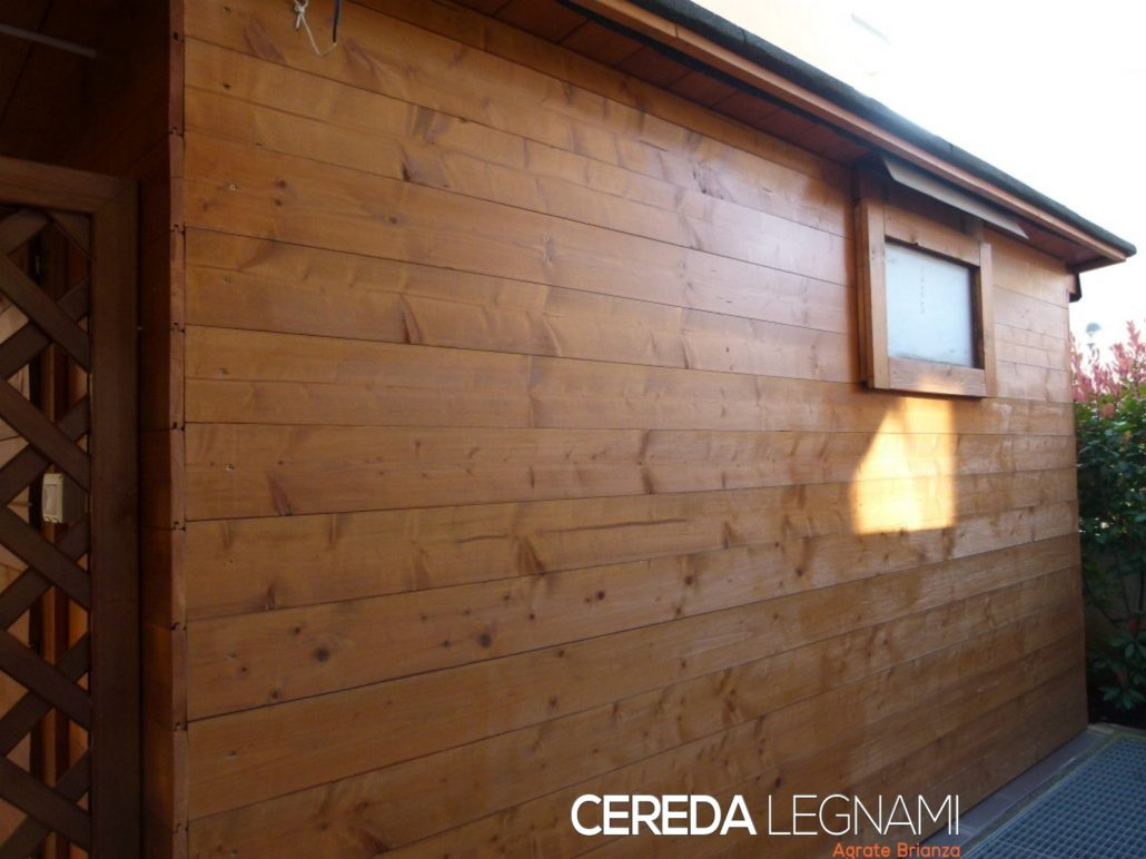 Perline in legno per rivestire garage box auto e cantine cereda legnami - Rivestire parete con legno ...