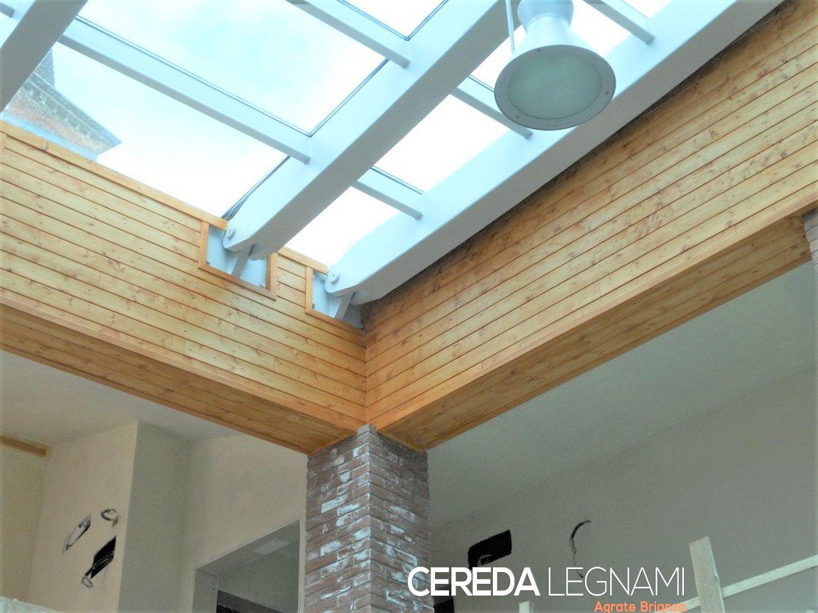 Perline rivestimento dogato legno abete cereda legnami for Posa perline legno parete