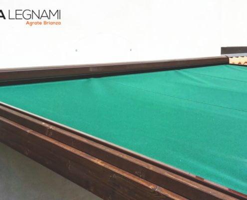 dettaglio di telo pvc su copertura in legno