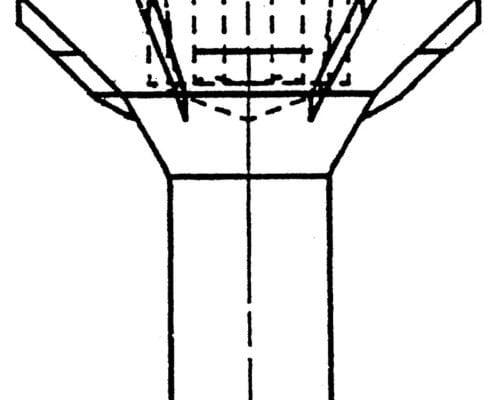 Disegno di vite serraggio legno: torx per legno lamellare.