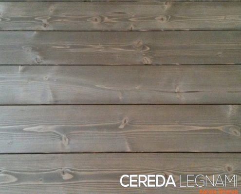 perline legno abete di prima scelta impregnate e spazzolate noce scuro
