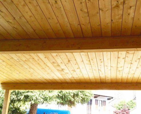 struttura da esterno realizzata con perline legno abete di prima scelta