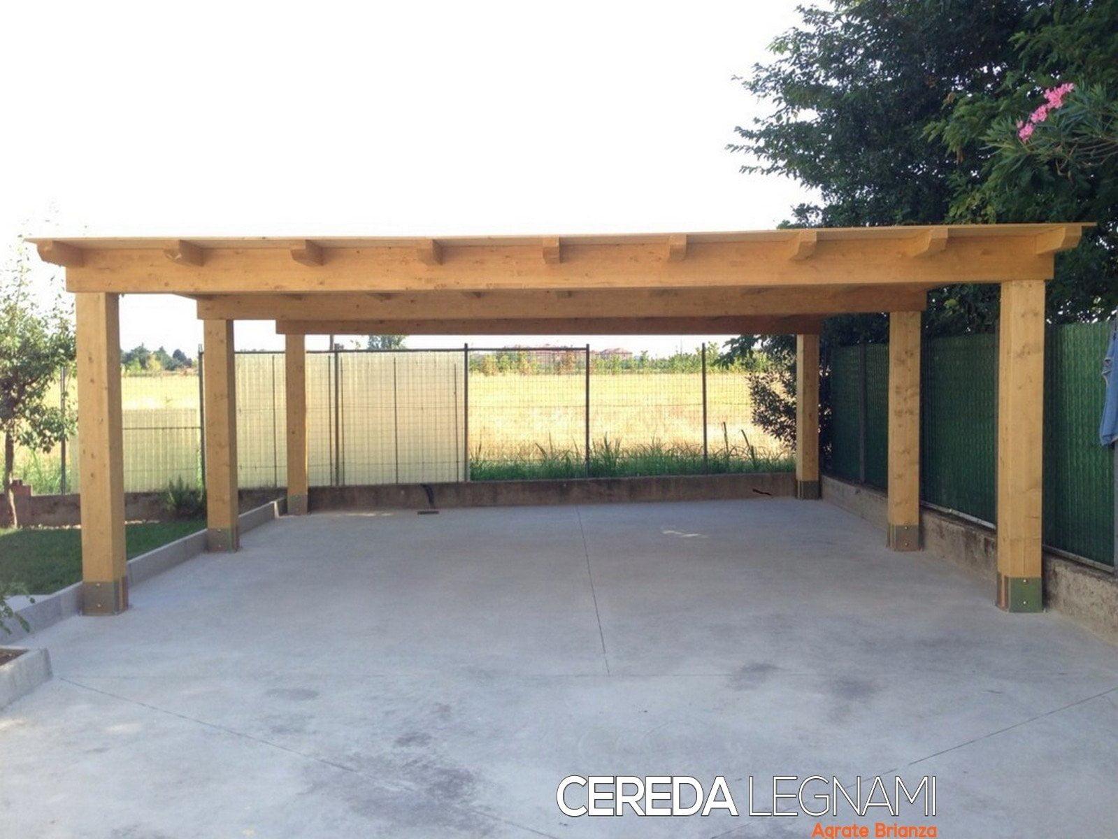 Copertura In Legno Per Auto : Tetti in legno tettoie pergole e pensiline milano e brianza