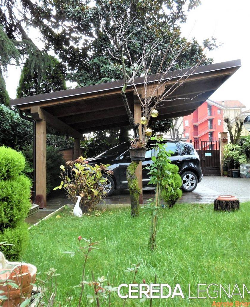 Carport e  copriauto in legno  massello e lamellare