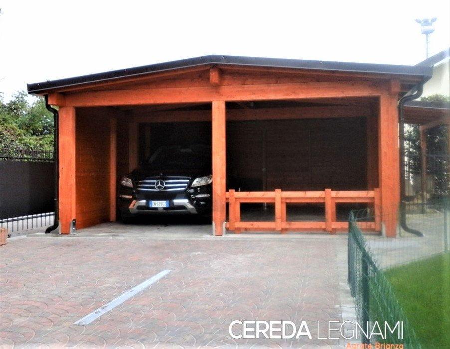 sistema in legno lamellare di abete per coprire automobili