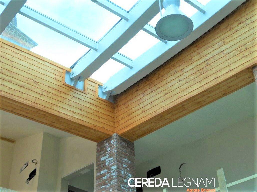 Perline in legno per rivestire ed isolare sottotetti, pareti, taverne  e cantine