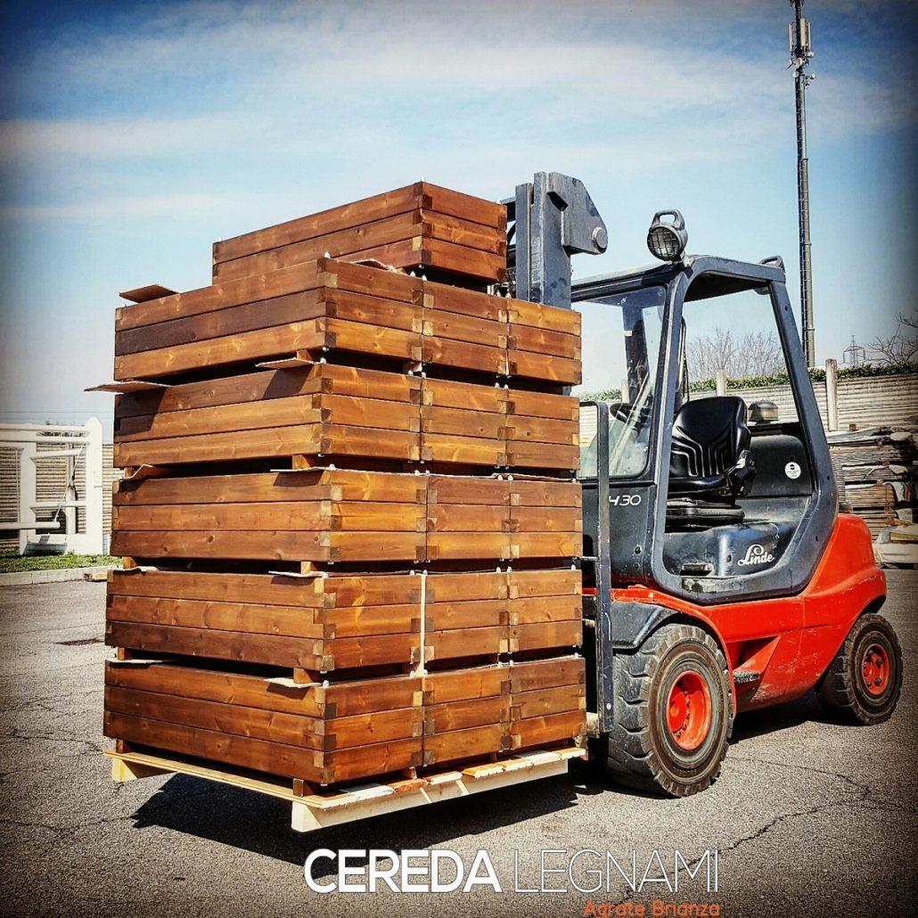Vasi in legno di pino trattato autoclave realizzate su misura. Milano, Monza e Brianza, Lecco, Como, Varese