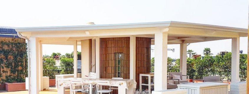 Copertura in legno Lamellare per terrazzi