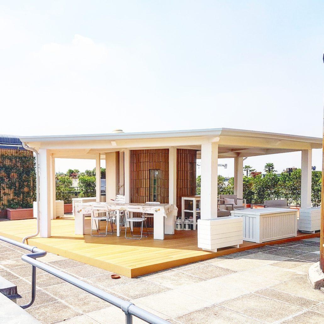 Coprire Terrazzo Con Veranda sistema per coprire terrazzi e balconi - cereda legnami