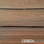 Perline in legno con finitura spazzolata e rusticata