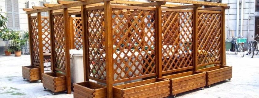 Amato Copribidoni in legno per la spazzatura - Cereda Legnami Agrate Brianza DW35
