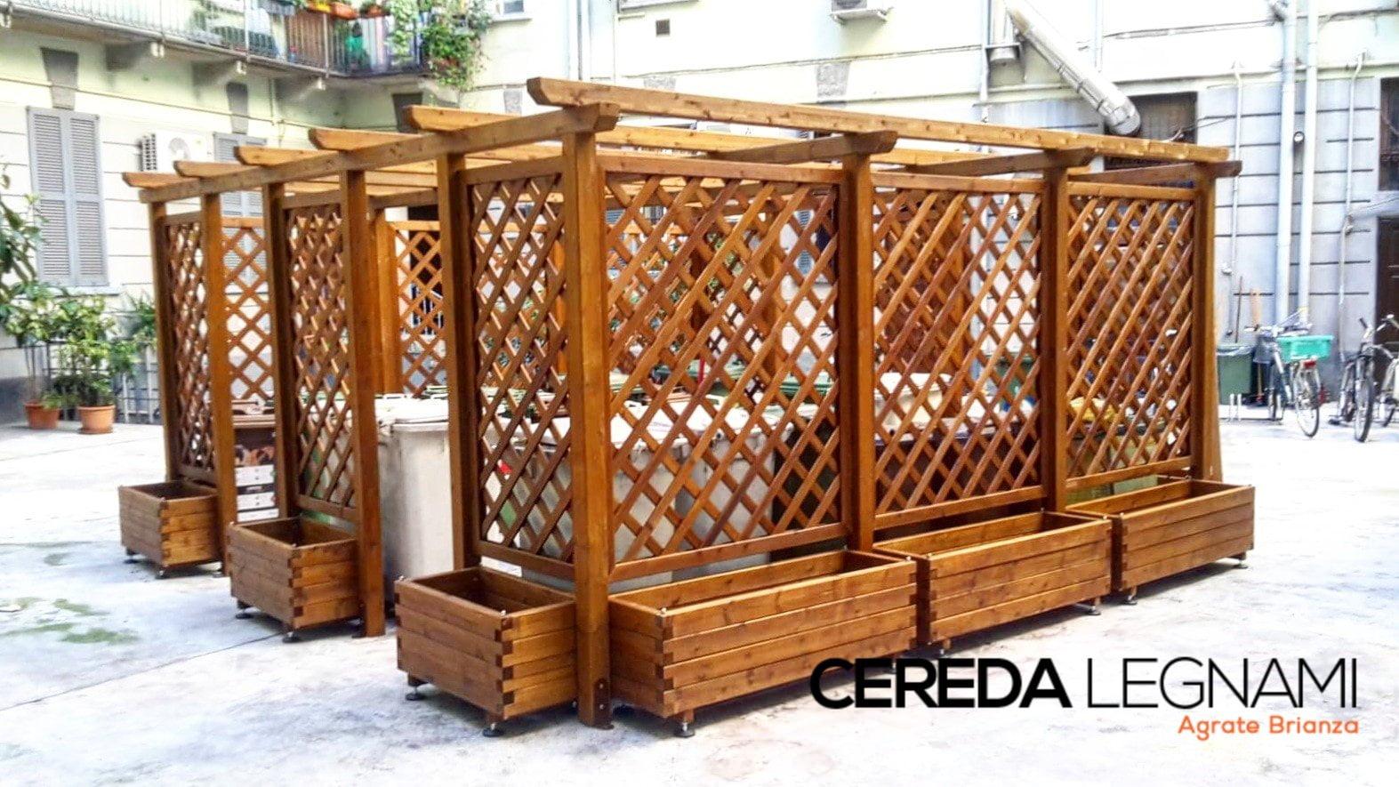 Box Per Bidoni Spazzatura copribidoni in legno per la spazzatura - cereda legnami