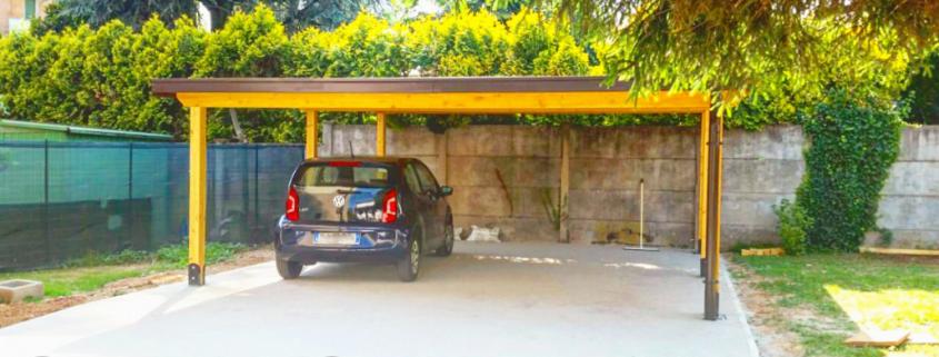 Tettoia in legno per auto o carport