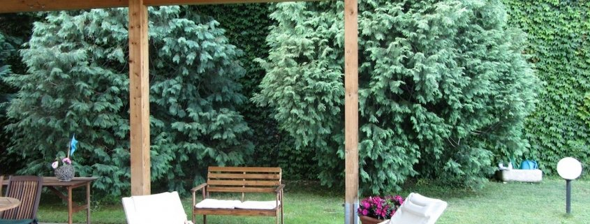 Gazebo in legno per giardino