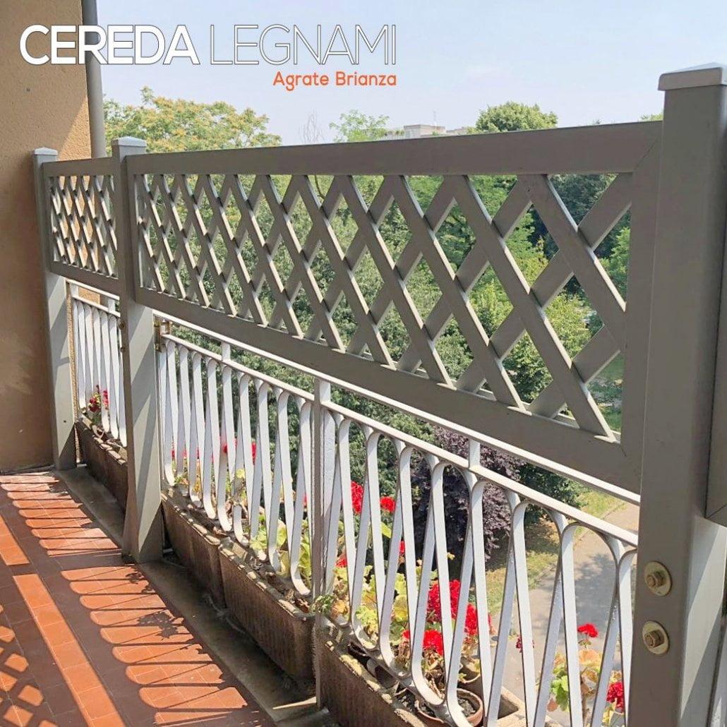 Griglie in legno bianco di Cereda Legnami