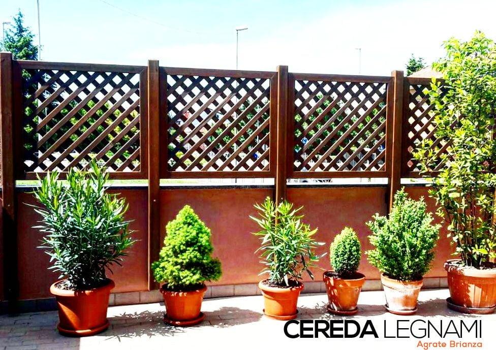 Griglie di legno per balconi di Cereda Legami
