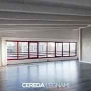 Controsoffitto in legno bianco di Cereda Legnami