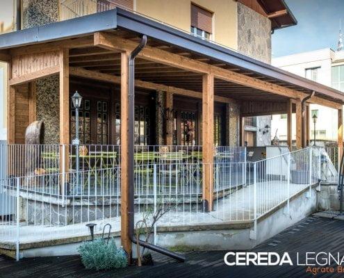 tettoia in legno per locali